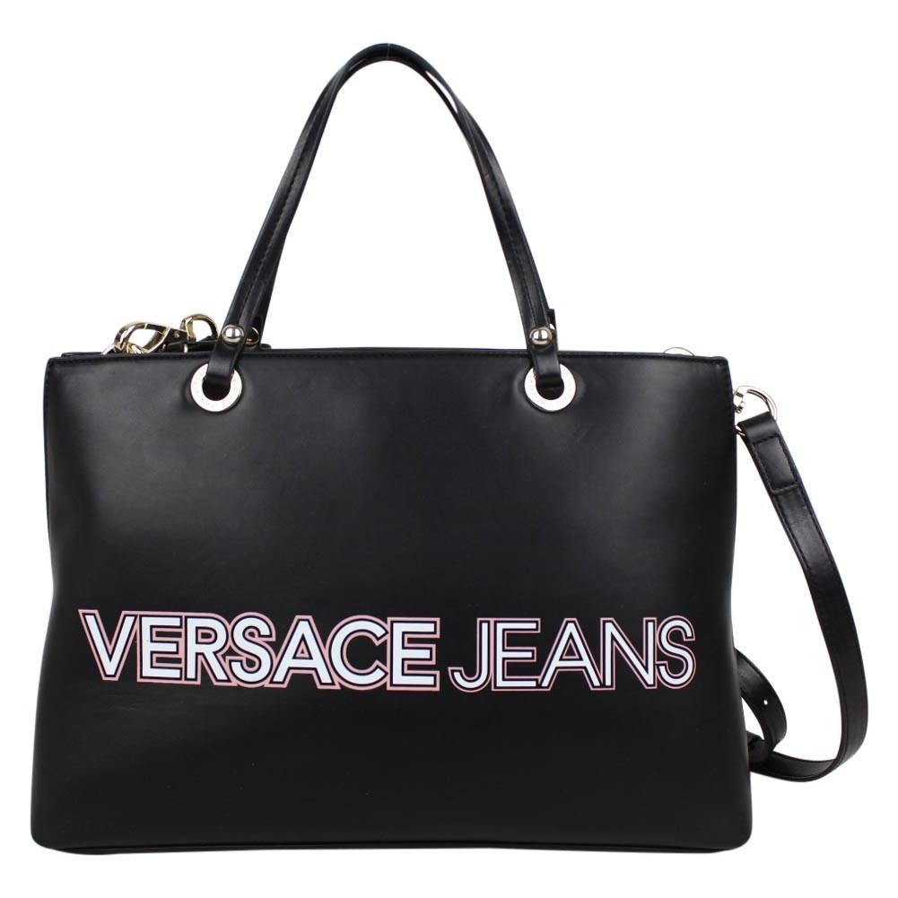 Sac à main Versace Jeans noir mat motif logo E1VPBBO4 Versace Jeans - 1