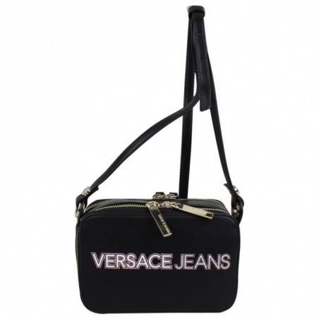 Sac bandoulière Versace Jeans noir mat motif logo Versace Jeans - 1
