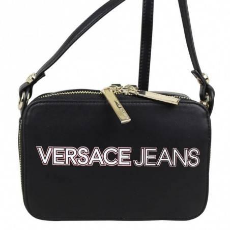 Sac bandoulière Versace Jeans noir mat motif logo Versace Jeans - 2