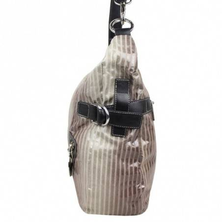 Sac épaule gris forme banane Patrick Blanc 504010 PATRICK BLANC - 2