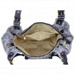 Grand sac à main / épaule toile motif Lancaster LANCASTER - 3