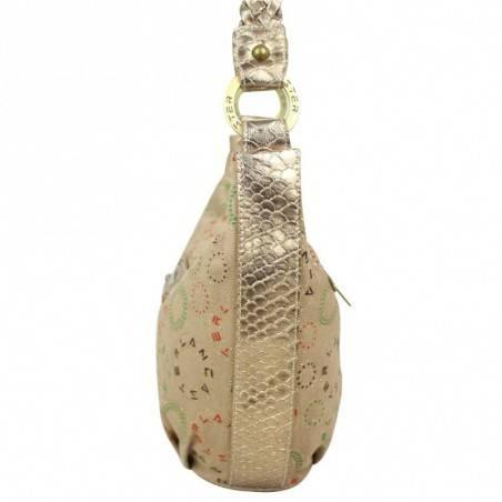 Petit sac toile motif brillant forme demi lune Lancaster LANCASTER - 2