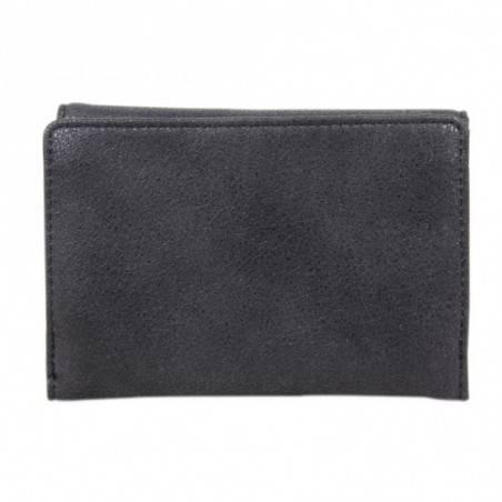 Porte monnaie vieilli déco couture rivets Fuchsia Lauren PM FUCHSIA - 20