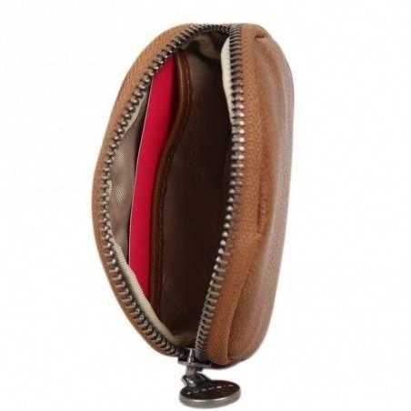 Porte monnaie femme à pièces style perforé Fuchsia F9582-2 FUCHSIA - 3