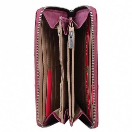 Porte monnaie femme grain granuleux Fuchsia F9629-1 FUCHSIA - 5