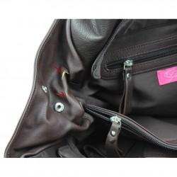 Sac cabas cuir rigide Thierry Mugler Zenith Ellipse 6 FUCHSIA - 3