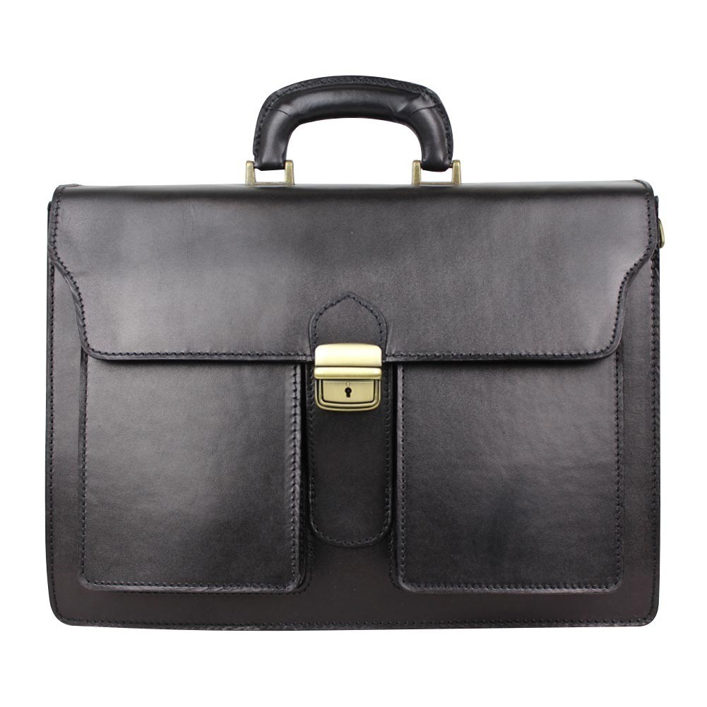 Porte documents en cuir lisse vintage trois compartiments A DÉCOUVRIR ! - 1