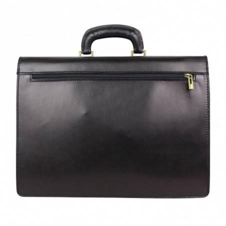 Porte documents en cuir lisse vintage trois compartiments A DÉCOUVRIR ! - 2