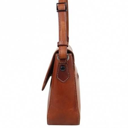 Sac à rabat Arthur et Aston cuir vintage Dicky teinté main ARTHUR & ASTON - 10