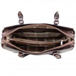 Sac bandoulière à rabat Arthur et Aston cuir vintage Dicky ARTHUR & ASTON - 4