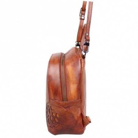 Sac bandoulière à rabat Arthur et Aston cuir vintage Dicky  ARTHUR & ASTON - 5