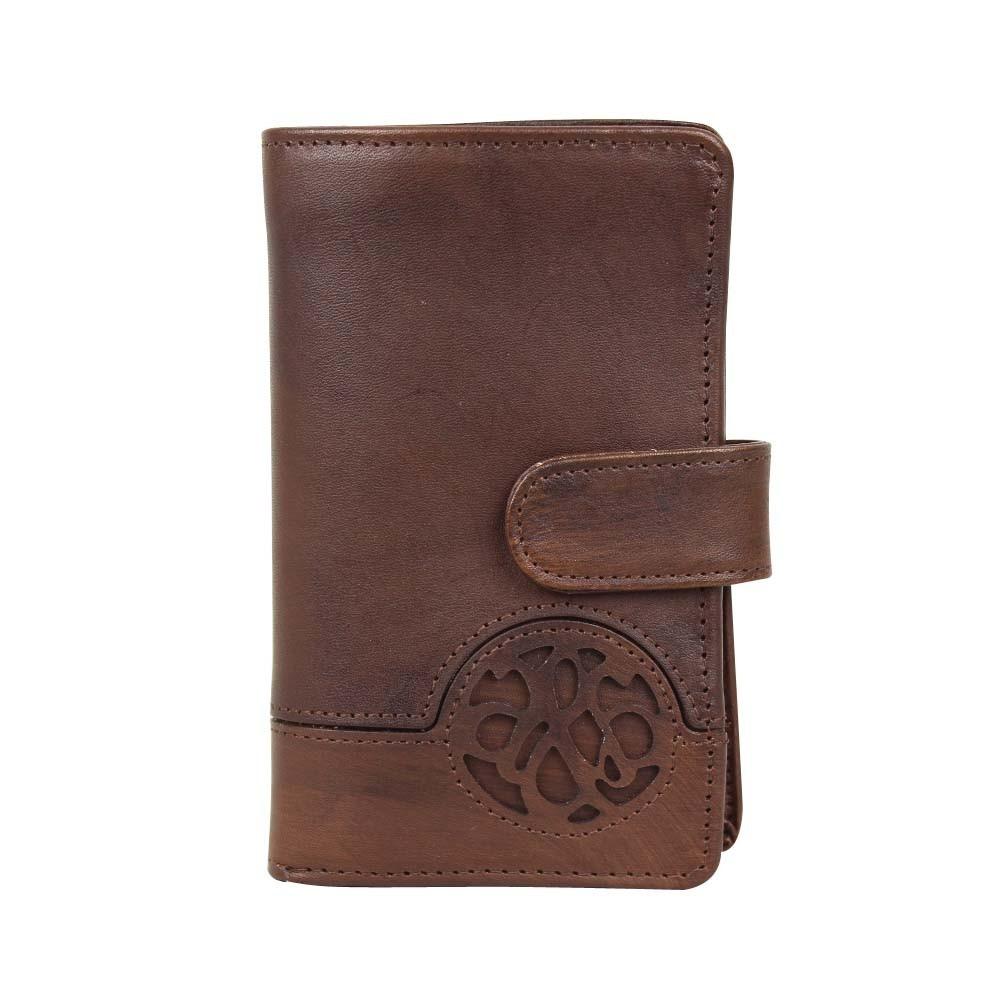 Porte monnaie fermoir femme en cuir et déco rivet Arthur et Aston Melany  ARTHUR & ASTON - 1