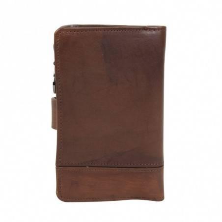 Porte monnaie fermoir femme en cuir et déco rivet Arthur et Aston Melany  ARTHUR & ASTON - 4