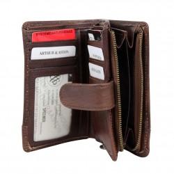 Porte monnaie fermoir femme en cuir et déco rivet Arthur et Aston Melany  ARTHUR & ASTON - 2