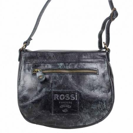 Petit sac bandoulière rabat cuir vieilli Bruno Rossi S