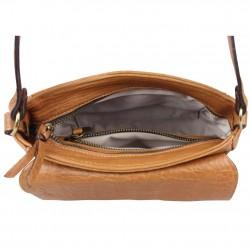 Mini sac bandoulière en cuir souple à rabat Chabrand CHABRAND - 3