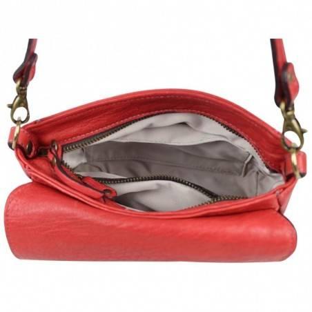 Mini sac bandoulière en cuir souple à rabat Chabrand