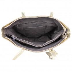 Sac cabas Patrick Blanc cuir metallisee motif imprime ethnique PATRICK BLANC - 3