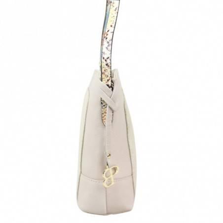 Sac bandoulière Patrick Blanc cuir souple motif lézard PATRICK BLANC - 2