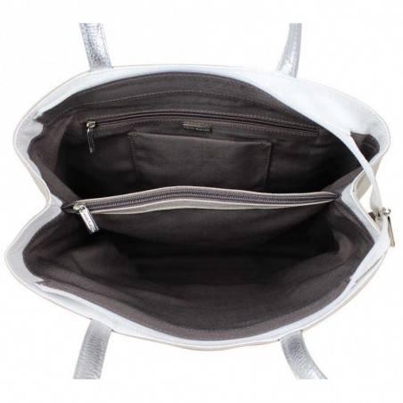Sac cabas Patrick Blanc en cuir souple et bande effet lézard PATRICK BLANC - 3