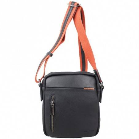 Pochette en cuir de marque Wylson en cuir noir w8144-6  PATRICK BLANC - 1