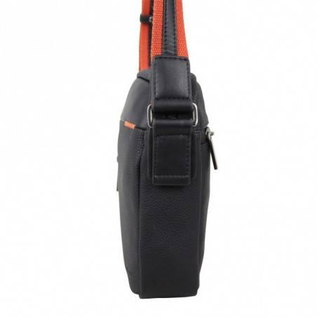 Pochette en cuir de marque Wylson en cuir noir w8144-6  PATRICK BLANC - 2