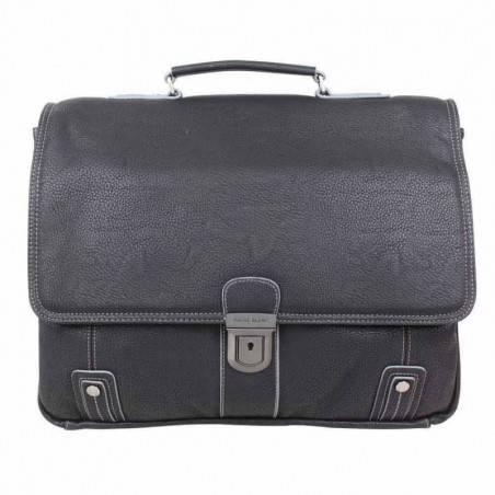 Porte documents cuir compatible tablette deux compartiments PATRICK BLANC - 1