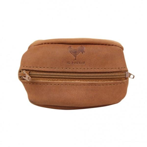Petit porte monnaie forme grain de caf fabrication france en cuir jean louis four s 2 poches - Porte monnaie grain de cafe ...