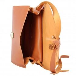 Sac cuir semi-rigide rabat Fourès fabrication France Pepite FOURÈS - 4