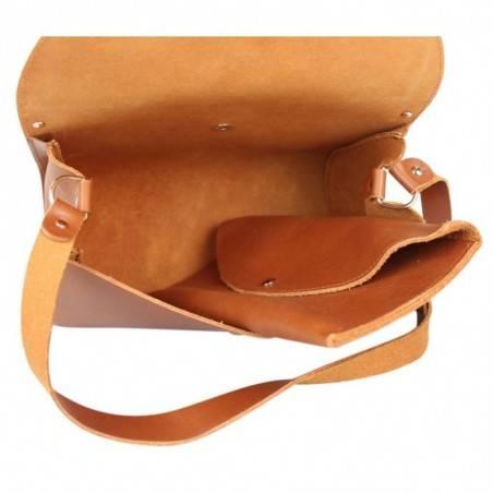 Sac cuir semi-rigide rabat Fourès fabrication France Pepite FOURÈS - 5