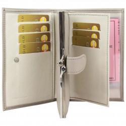 Porte monnaie + cartes en cuir effet brute C. By Claudia Luc Fabriqué en France C. By Claudia Luc - 2