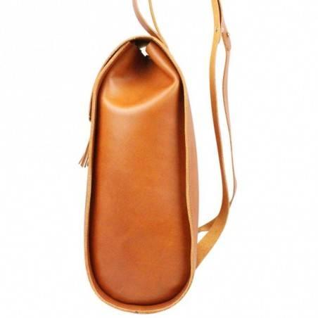 Sac à dos rabat en cuir Fourès fabrication France Pepite FOURÈS - 3