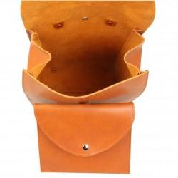 Sac à dos rabat en cuir Fourès fabrication France Pepite FOURÈS - 4