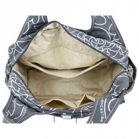 Sac à main + bandoulière Lancaster textile motif métallisé LANCASTER - 3