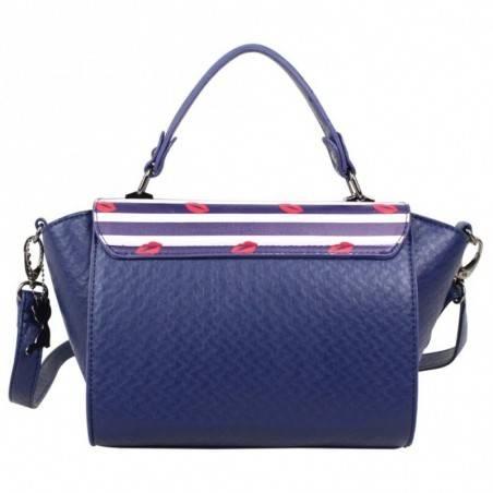 Petit sac à main trapèze Lollipops Bisous bleu et blanc LOLLIPOPS - 4