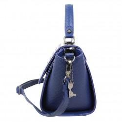 Petit sac à main trapèze Lollipops Bisous bleu et blanc LOLLIPOPS - 2