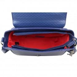Petit sac à main trapèze Lollipops Bisous bleu et blanc LOLLIPOPS - 3