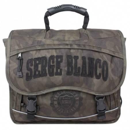 Cartable Serge Blanco motif imprimé militaire camouflage PRE 2 compartiments