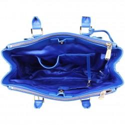Petit sac trapèze bandoulière demi chaîne Andie Blue A8095 A DÉCOUVRIR ! - 3