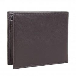 Portefeuille européen cuir marron de marque Wylson WYLSON - 3