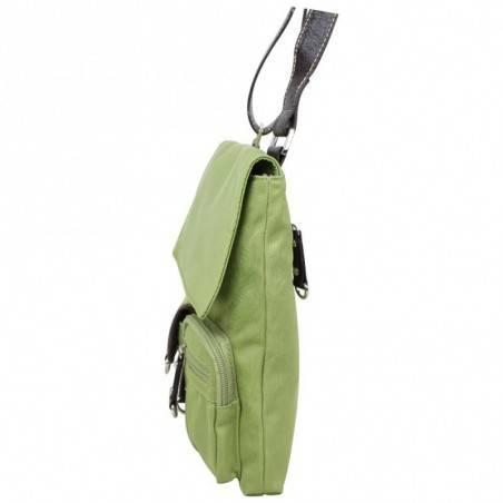 Sac pochette extra plat nylon Fuchsia multi-poches FUCHSIA - 2