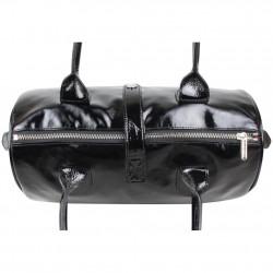 Sac à main bowling verni Texier T Light fabrication France TEXIER - 3
