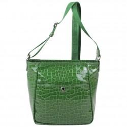 Petit sac bandoulière Lancaster style croco verni 541-11 LANCASTER - 1