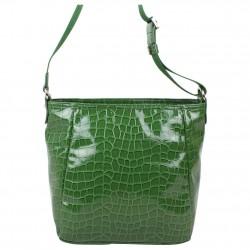 Petit sac bandoulière Lancaster style croco verni 541-11 LANCASTER - 4