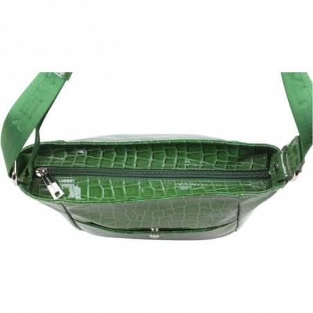 Petit sac bandoulière Lancaster style croco verni 541-11 LANCASTER - 3