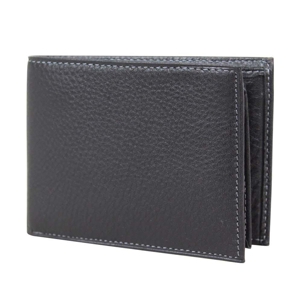 Petit portefeuille Duolynx Européen pas cher cuir noir WYLSON - 1