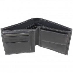 Petit portefeuille Duolynx Européen pas cher cuir noir WYLSON - 3