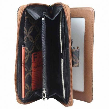 Grand porte monnaie zip toile Sequoia S11-015 BI SEQUOIA - 3