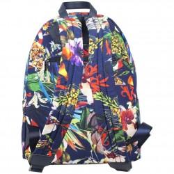 Sac à dos à zip Hexagona toile motif imprimé fleurs HEXAGONA - 2