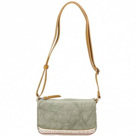 Petit sac bandoulière FUCHSIA Milli bande toile délavée vert FUCHSIA - 1